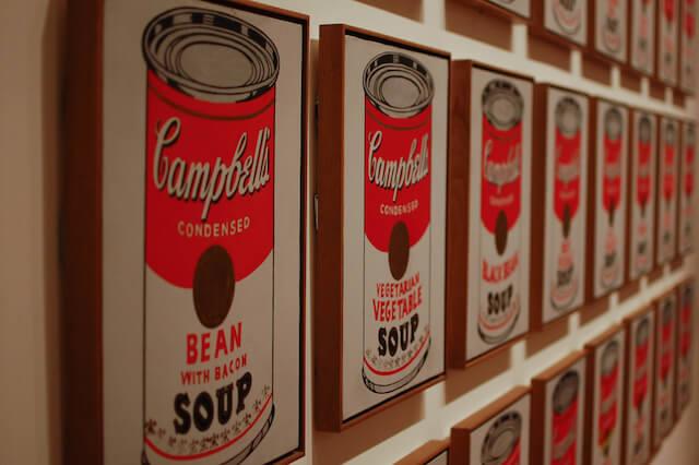 ウォーホルのキャンベルスープ