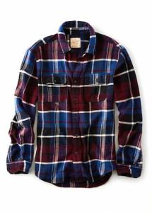 アメリカンイーグルネルシャツ