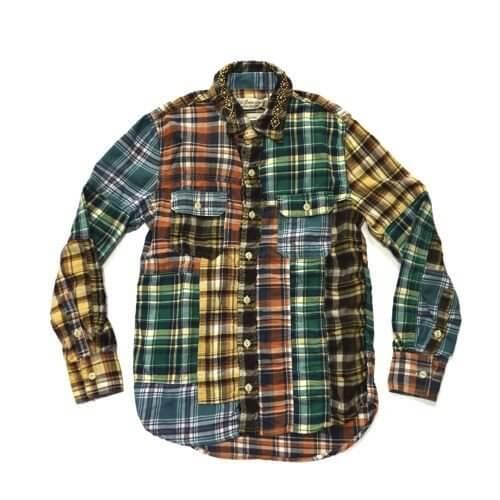 レミレリーフネルシャツ
