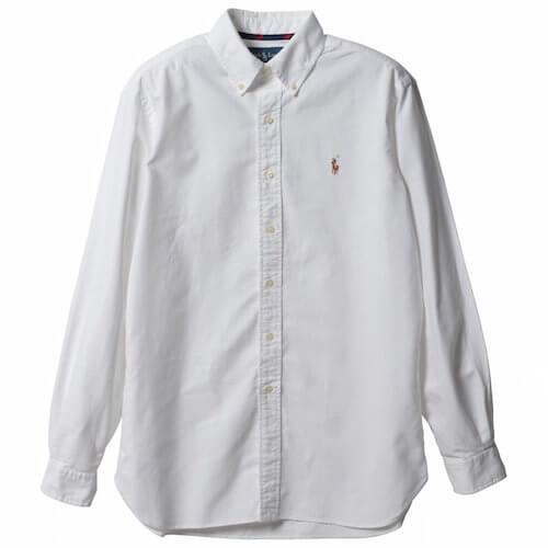 ラルフローレン白シャツ