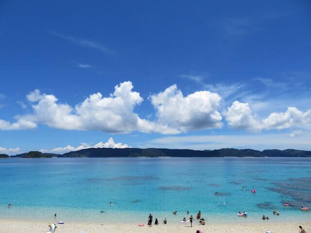 沖縄の座間味島の景色