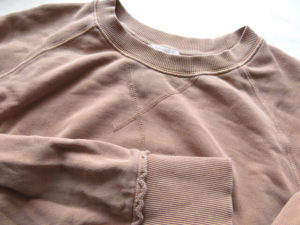 スウェットシャツのディテール
