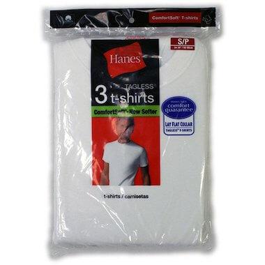 ヘインズの3pack白Tシャツ