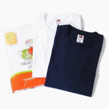 フルーツオブザルームポケットTシャツ