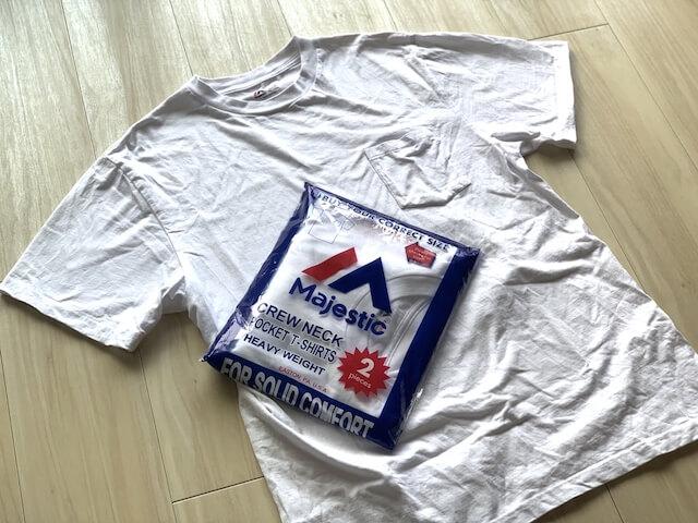 majestic白Tシャツ